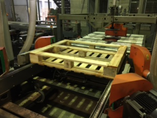 Step 4 of the Wooden Pallet Manufacturing Process