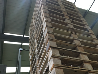 Step 8 of the Wooden Pallet Manufacturing Process